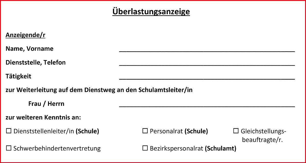 Die Uberlastungsanzeige Gew Thuringen