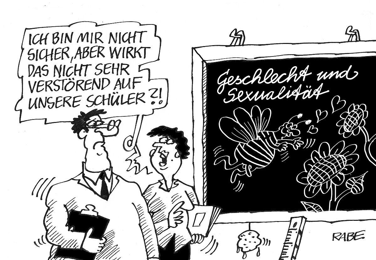 Karikaturen des Geschlechts